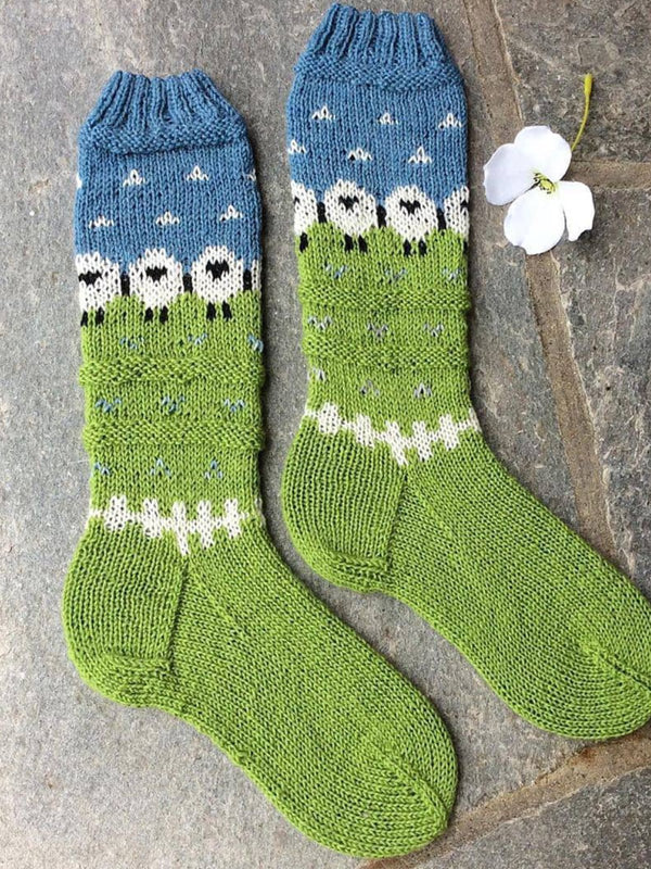 Knitted Casual Floral Underwear & Socks