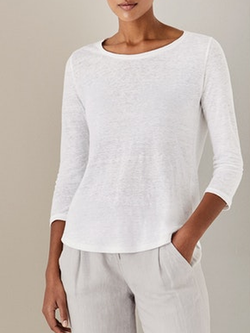 Plain Crew Neck Long Sleeve Shirts & Tops