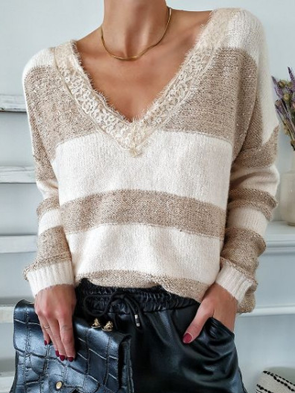 Color-Block Casual Sweater