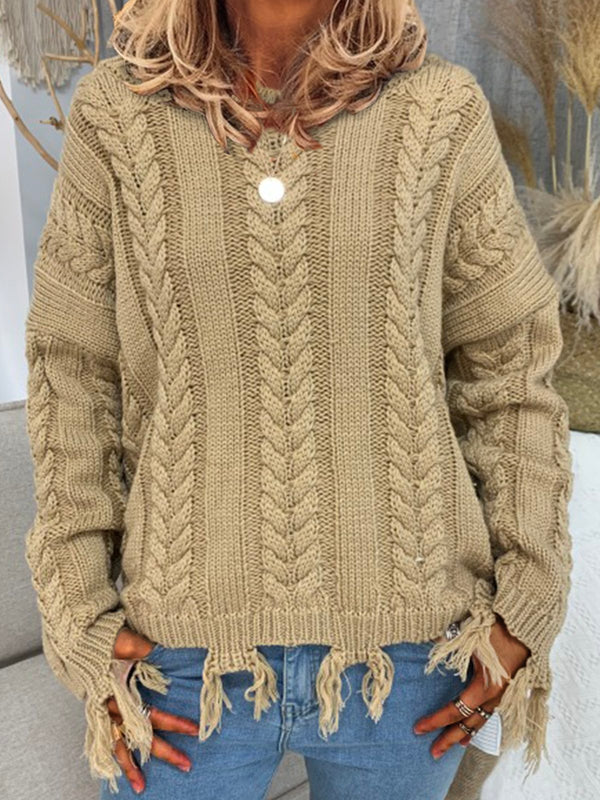Shift Crew Neck Knitted Sweater