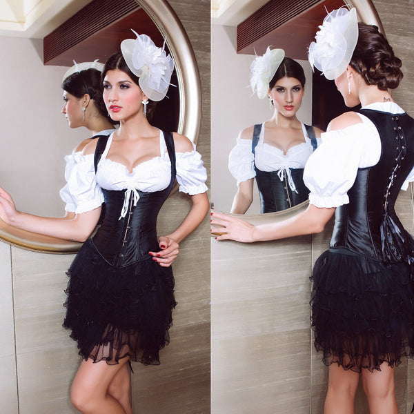 Simple Style Sexy Black Color Slimming Body Corset For Women