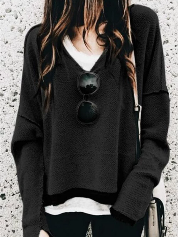 Long Sleeve Cotton V Neck Shirts & Tops