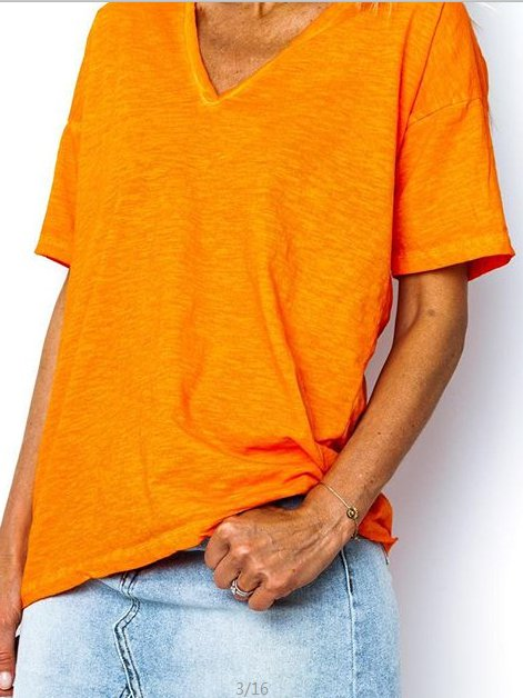 Solid Casual Cotton V Neck Shirts T-shirts