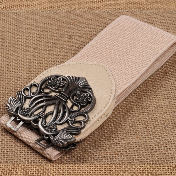 Women Carved Vintage Artificial Belt