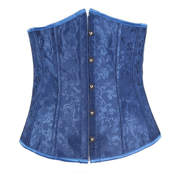 Blue Corset With Steel Buckle For Women