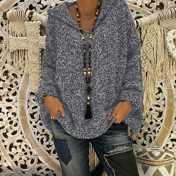 Bat Sleeve Hooded Casual Sweaters