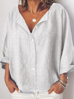 Womens Clothing Long Sleeve Linen Shirts & Blouses