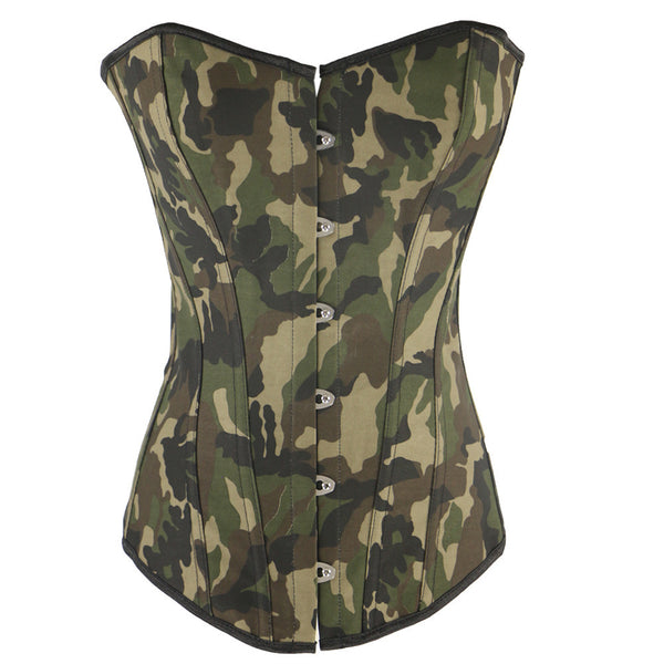Camouflage Color Sexy Waist Training Corset