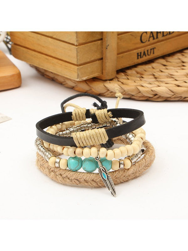 As Picture Casual Pu Bracelets