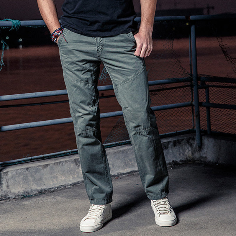 Basic Plain Paneled Pants