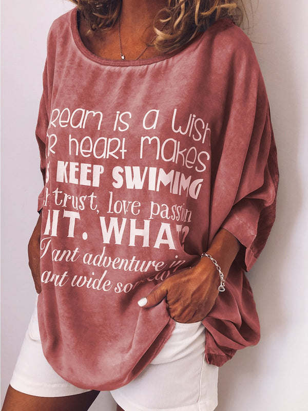 Long Sleeve Round Neck Cotton Sweet Shirts & Tops