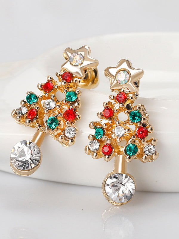 Golden Christmas Alloy Gorgeous Earrings