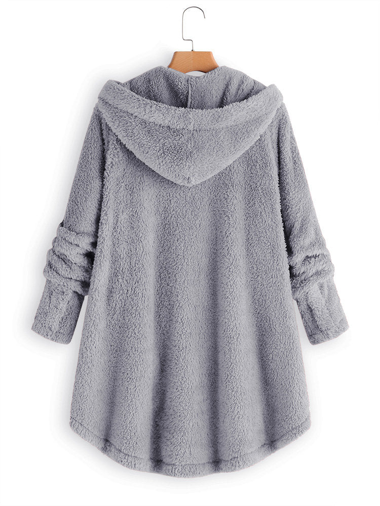 Outerwear Cashmere Long Sleeve Casual Buttoned Outerwear