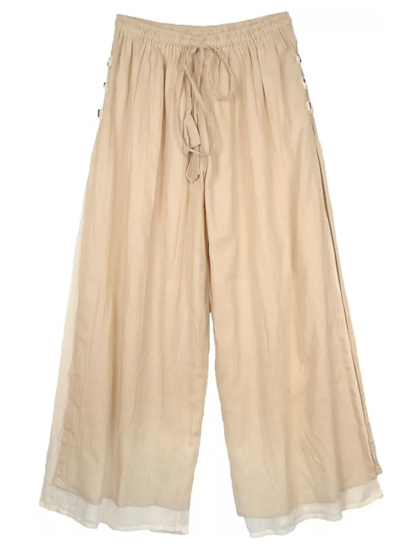 Casual Plus Size Double Layer Pants