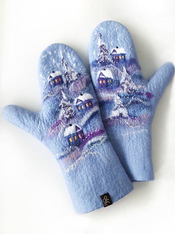 Blue Casual Gloves & Mittens
