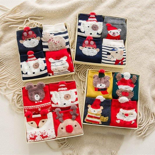 Christmas Gift Box - 4 pairs of Socks - Gift Package