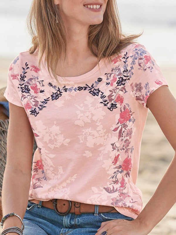Floral Short Sleeve Printed Shirts