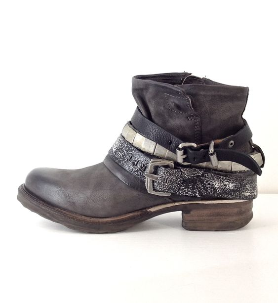 Black Winter Faux Leather Boots