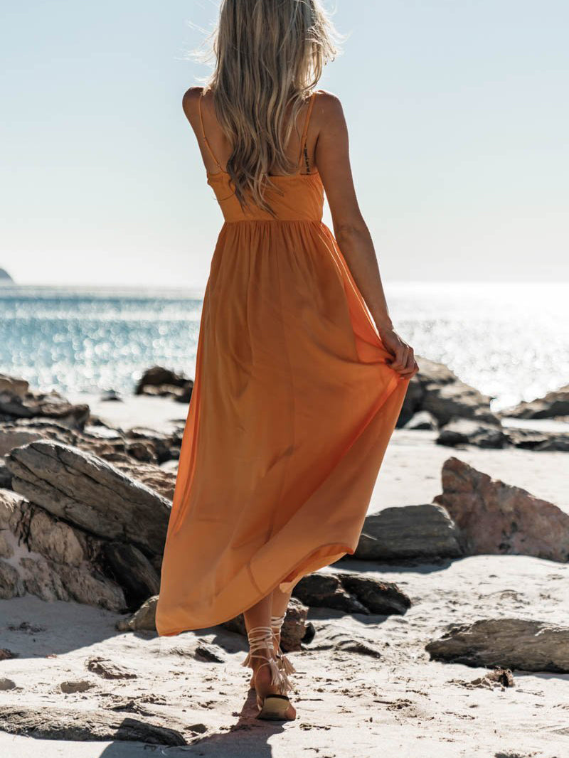Boho Solid Sleeveless Swing Dresses