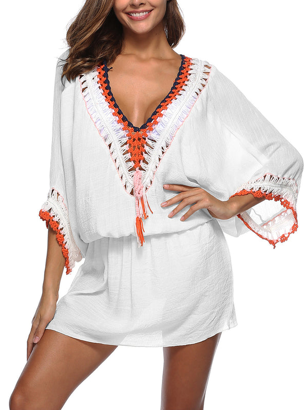3/4 Sleeve Casual Cover Ups