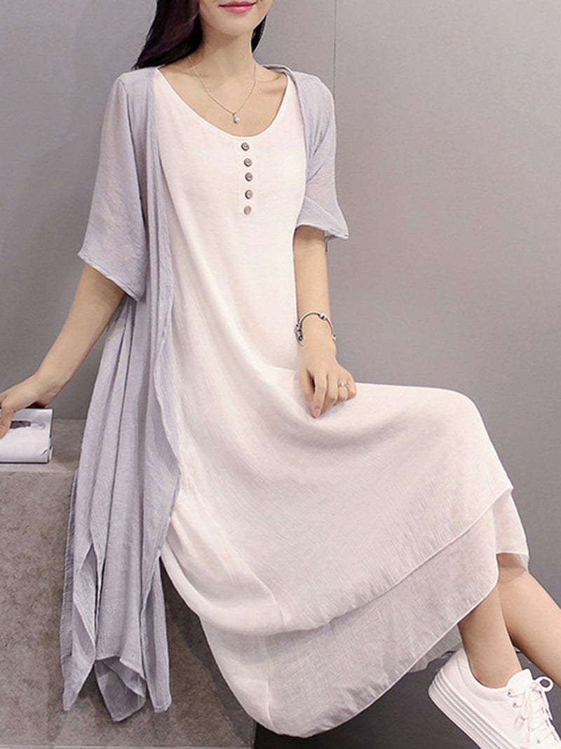 Women Two Piece Going Out Solid Casual  Dresses