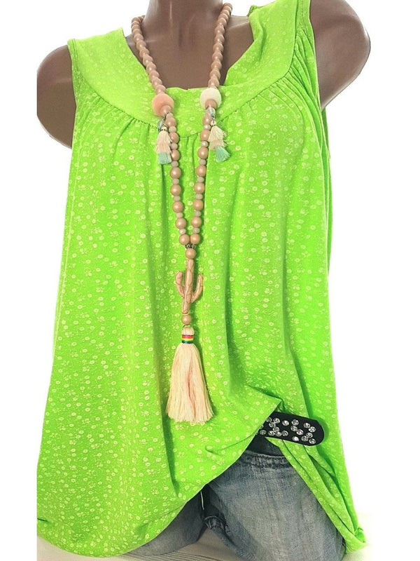 Casual V Neck Sleeveless Shirts Blouses