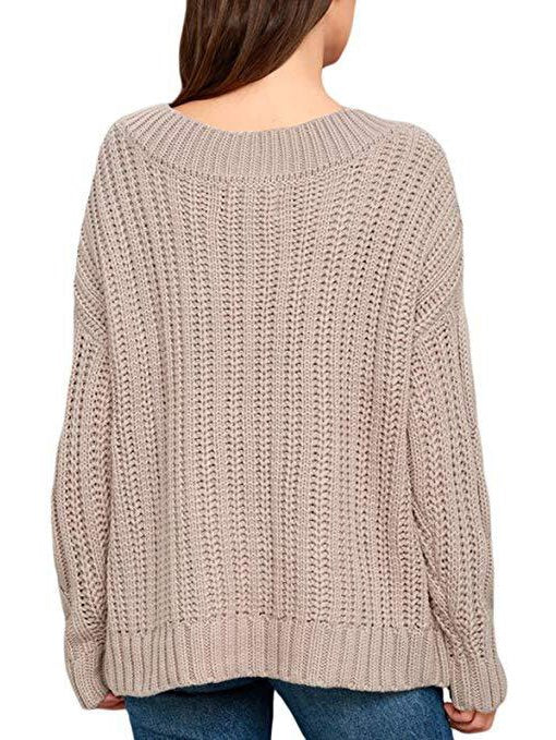 Apricot Sweet Knitted Sweater