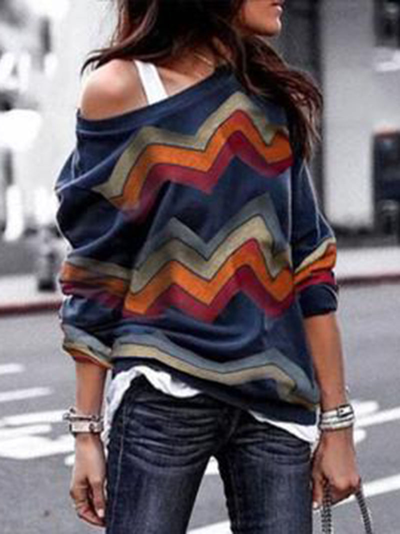 Plus Size Geometric Fashion T-Shirt