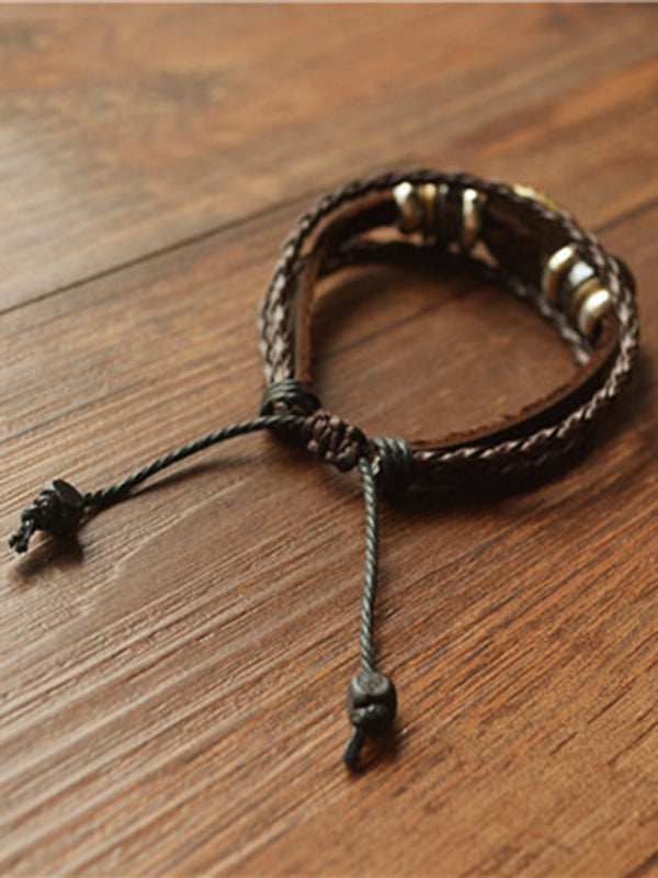 Vintage Artificial Leather Bracelet
