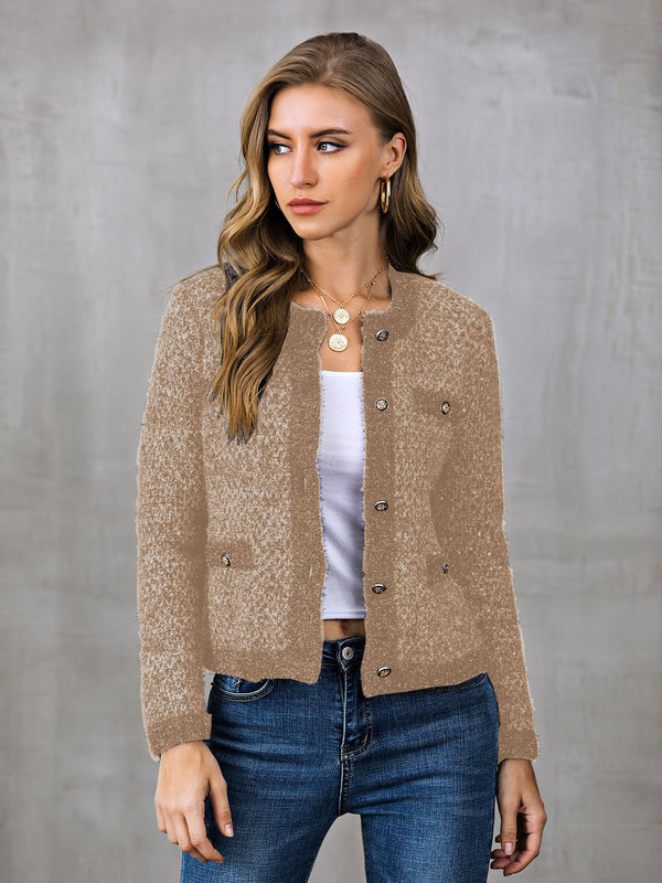 Casual Buttoned Outerwear