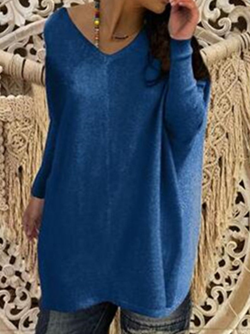 Long Sleeve Casual Cotton-Blend Sweaters