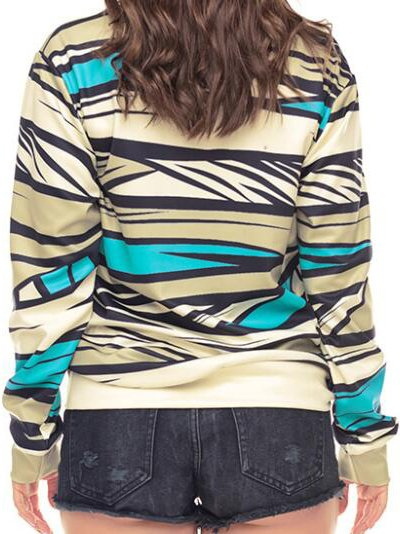 Multicolor Abstract Casual Shirts & Tops
