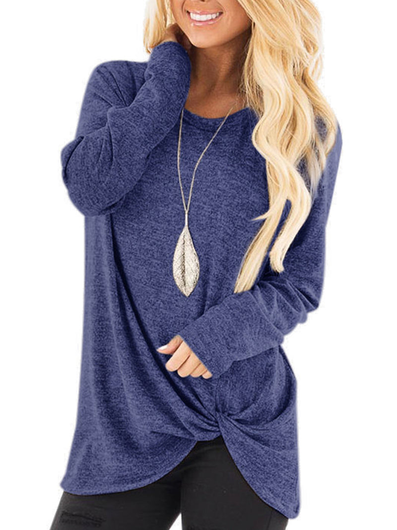 Long Sleeve Crew Neck Cotton Casual T-Shirts