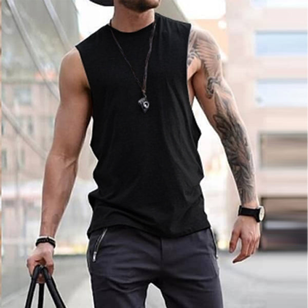 Men's Spring Summer Crew Neck Vests