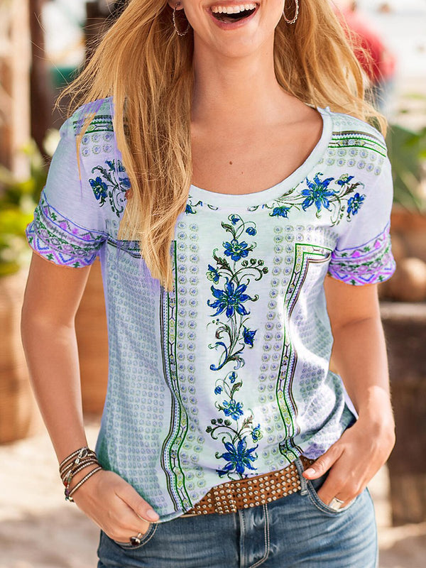 Floral Casual Short Sleeve Shirts