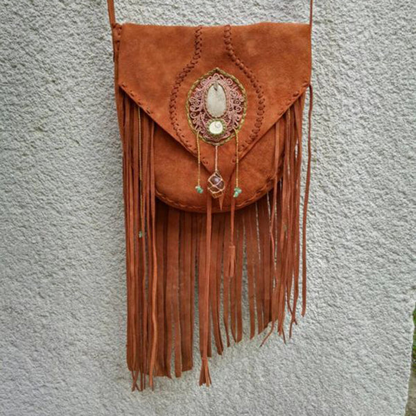 Magnetic Faux Leather Boho Shoulder Bags