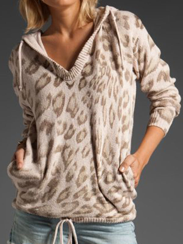 Shift Long Sleeve Leopard Print Shirts & Tops