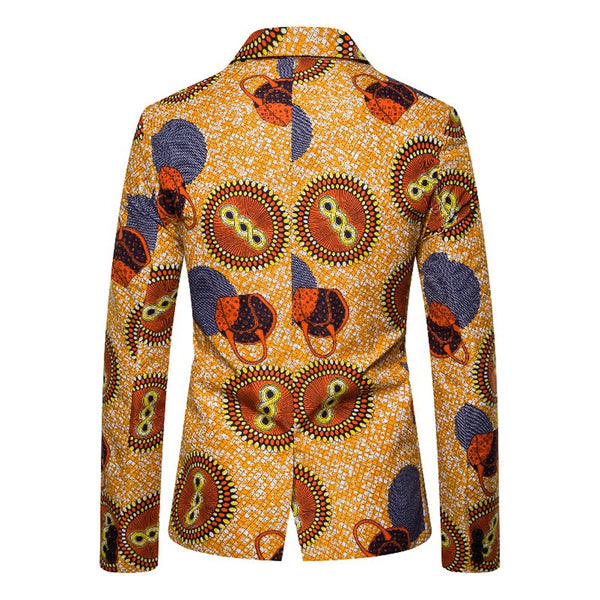 As Picture Abstract Cocktail Printed Lapel Outerwear