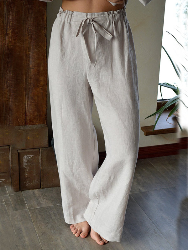 Plain Casual Pants