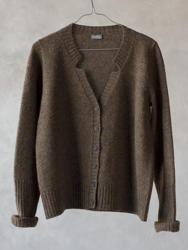 Brown Casual Knitted Sweater