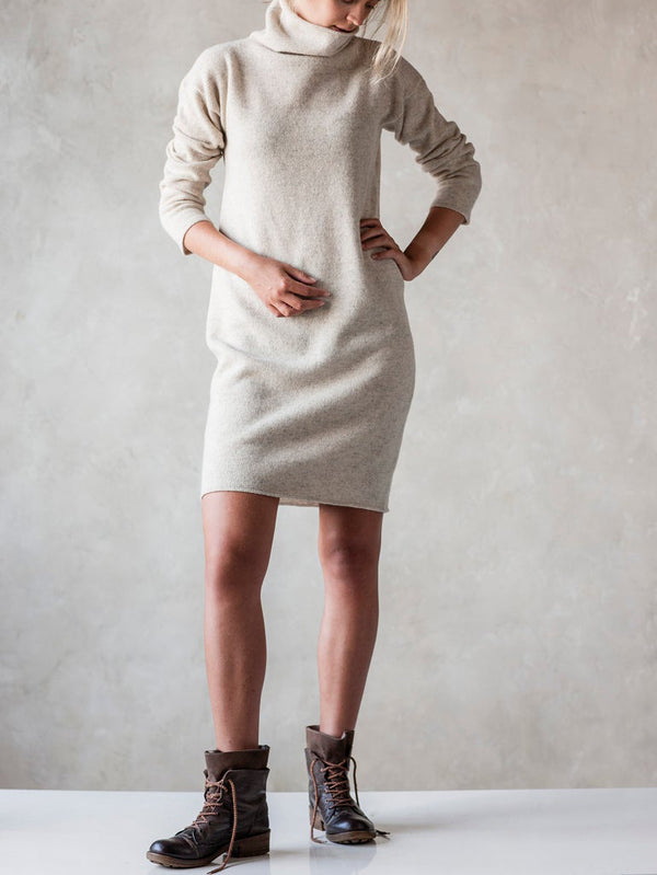 White Knitted Casual Sweater