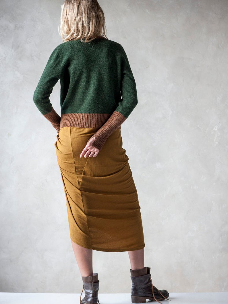 Green Knitted Casual Sweater