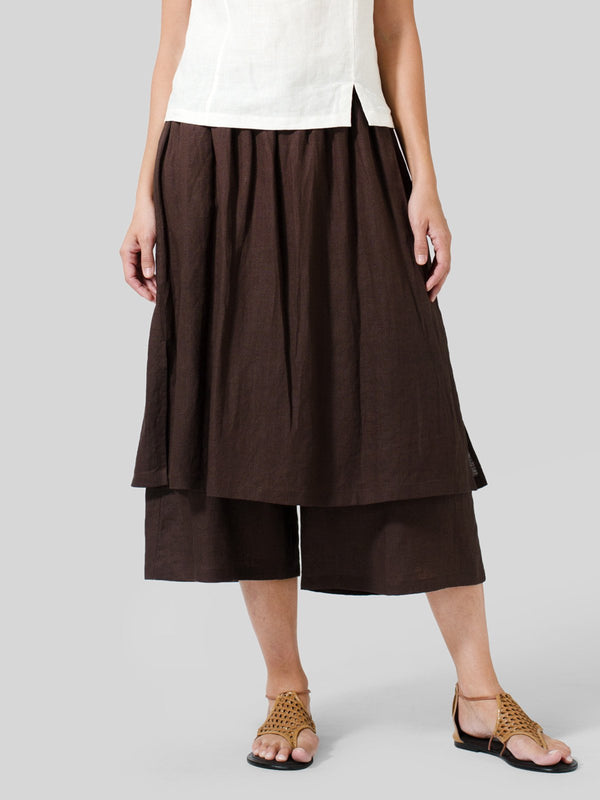 Casual Linen Solid Pants