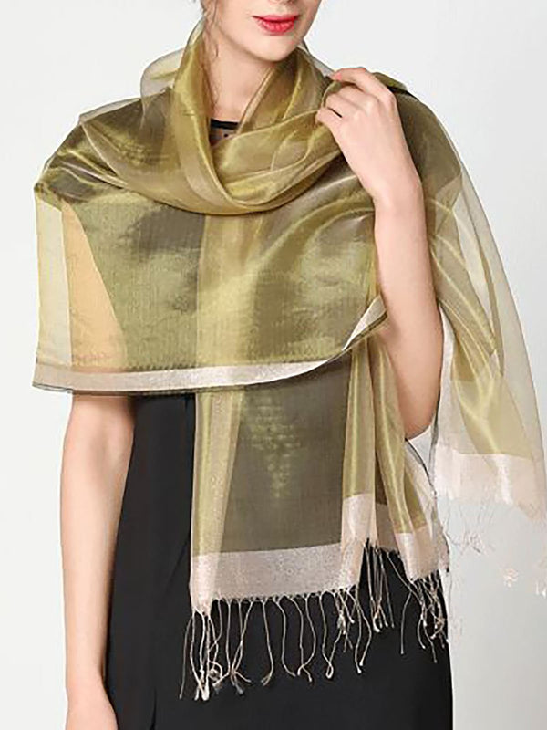 Beach Fringed Solid Scarve