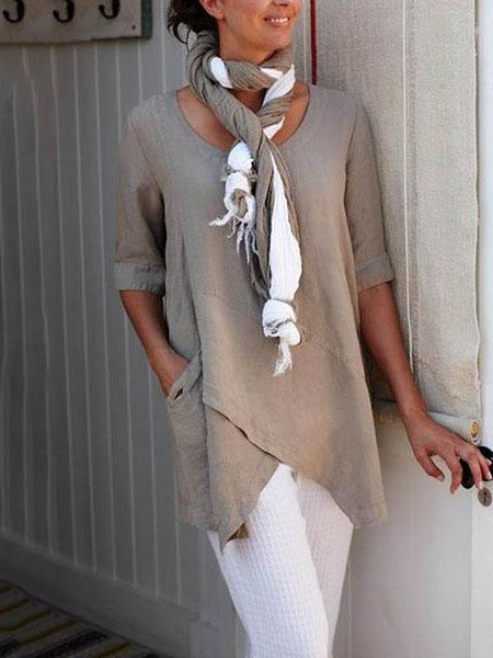 Half Sleeve Casual Shirts Blouses