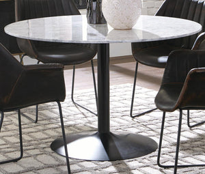 "Marble Top 48"" Round Table"