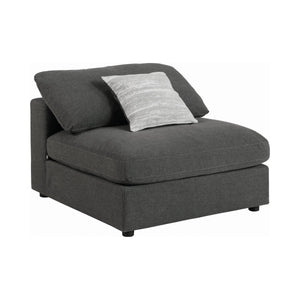 Grey Serene Upholstered Stationary Sectional (4184354488405)