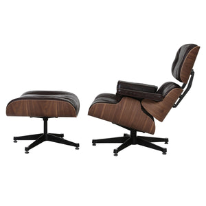 Mayson Lounge Chair and Ottoman in Black (4584660729941)