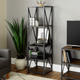 "61"" Metal Wood Bookcase (4372446216277)"