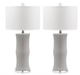 Ceramic Gray Bamboo Lamp-Set of 2 (2717106077781)